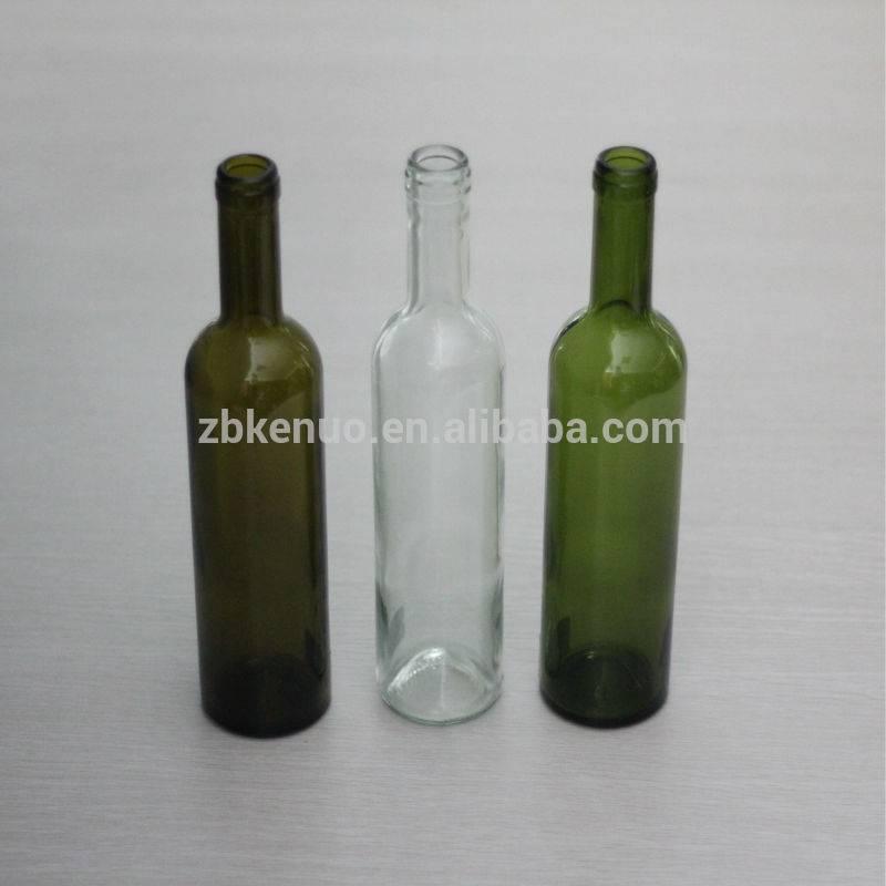 different sizes bordeaux glass wine bottle