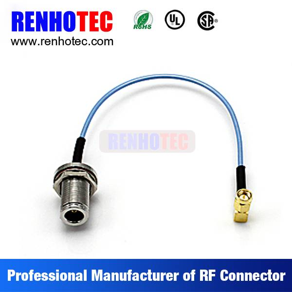 TNC Female to R/A SMA Plug Coaxial Wire Rope Connectors Custom Cable Assembly