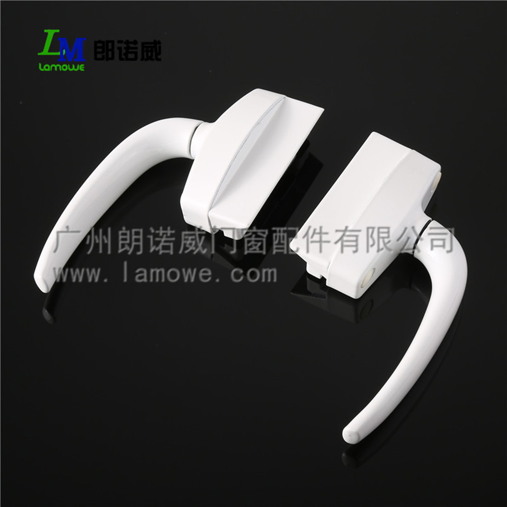 Wholesale zinc alloy multi-point 57 open plate window handle for powder coated