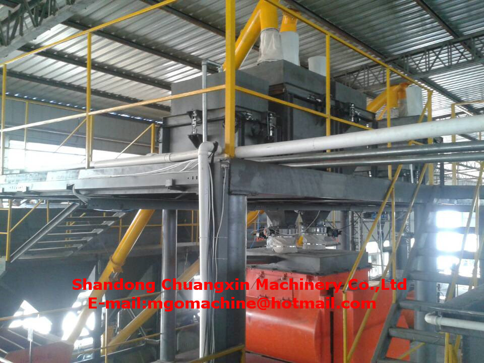 fireproof high magnesium oxide properties 85% content machine for ceiling wall skirting