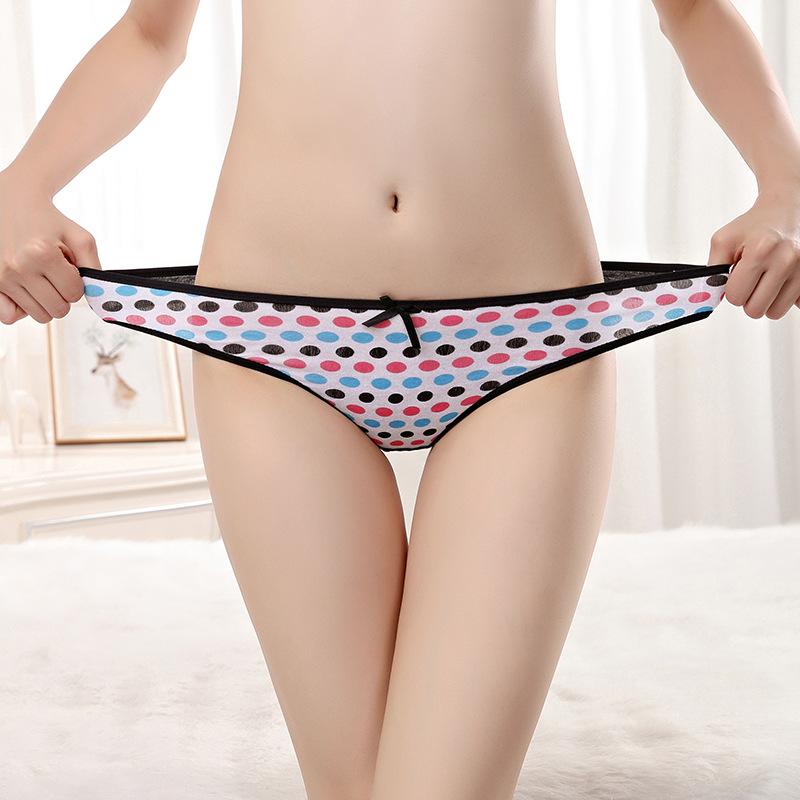 New Desgin Cotton G-string Thong For Men Women Colorful Printing Panties For Women