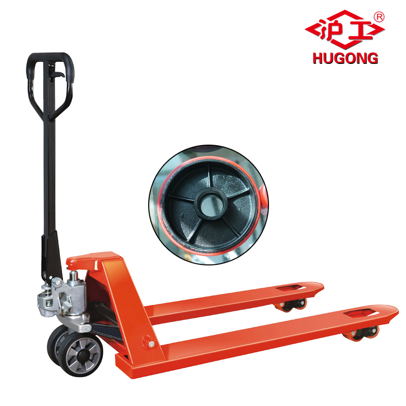1.5 ton manual hand pallet truck used for wood plastic pallet