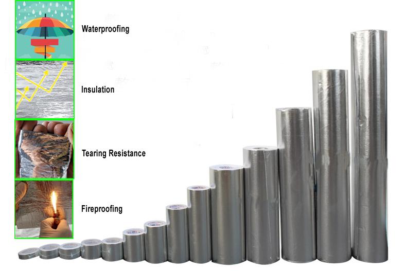 Self Adhesive Bituminous Waterproofing Membrane with Aluminium Foil