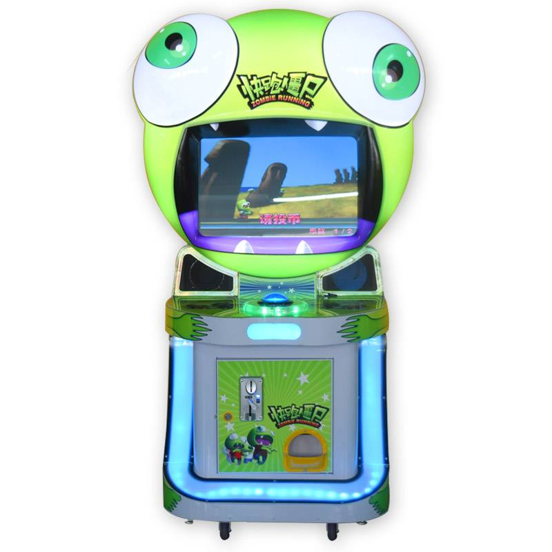 Electric coin operated arcade zombie running amusement game machine supplier&exporter