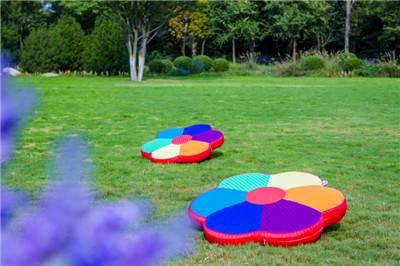 Rainbow flower shape meditation mat