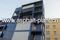 LB1500 Asphalt Hot Mix Plant, Finished Asphalt Storage Bin: 30t storage bin under mixer