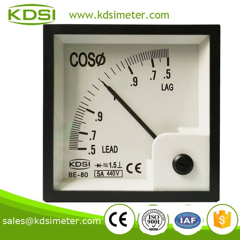 Instant flexible BE-80 5A 440V COS power factor meter