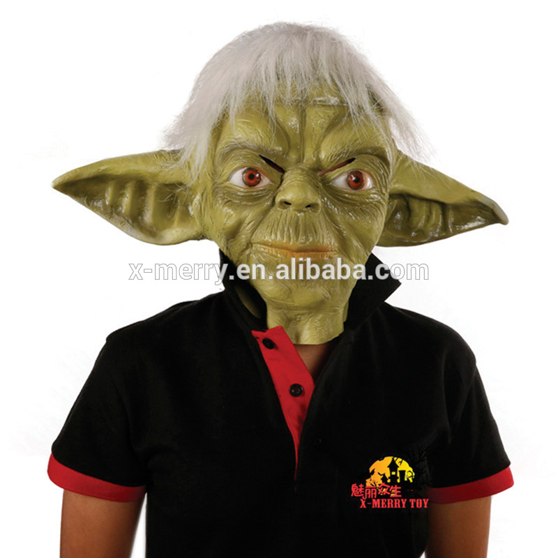X-MERRY TOY Deluxe Yoda Mask Jedi Master Costume Accessory Adult Latex Halloween Mask x14063