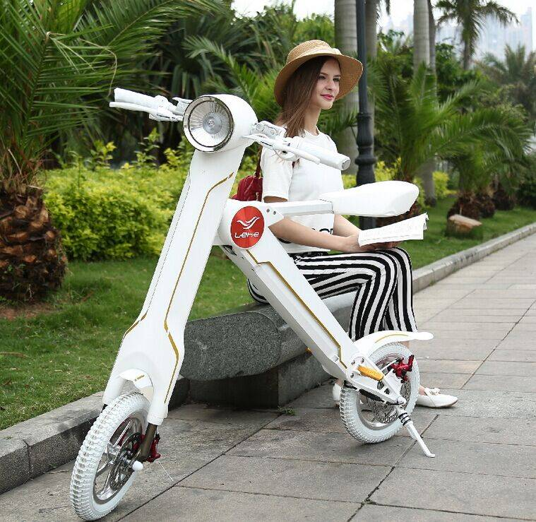 36v 250W Lehe k1 folding electric scooter lithium battery foldable electric bicycle