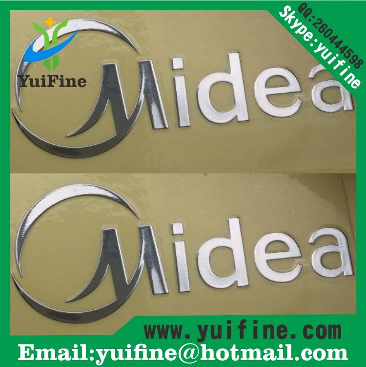 Customized Logo Electroformed Thin Metal Name Plate Adhesive Sticker Logo Brand Nickel sticker metal