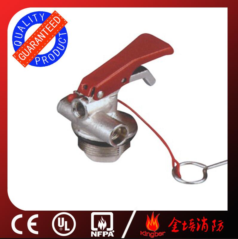 1-2KG Red Color Brass Material Dry Powder Extintor Valve with Chromium Plated and CE Approval