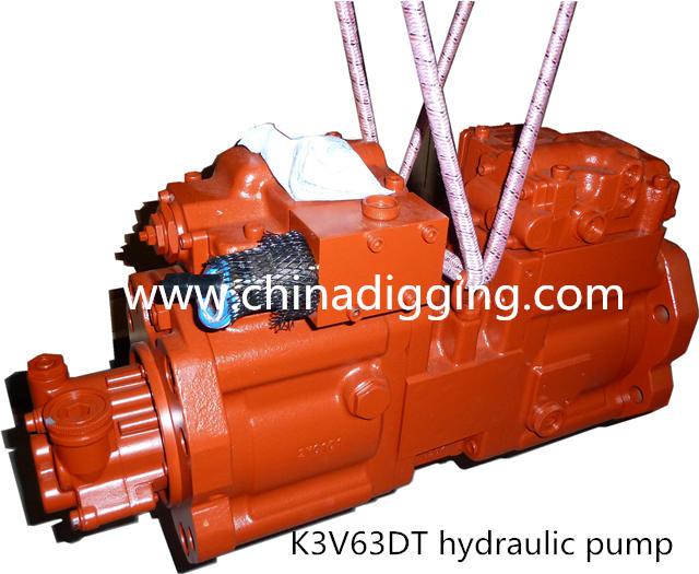 Kawasaki K3V63DT excavator hydraulic pump main pump assy