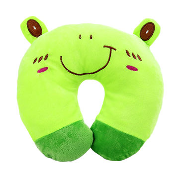 Wholesale Frog Plush Animal Neck Pillow, OEM U Shape Pillow
