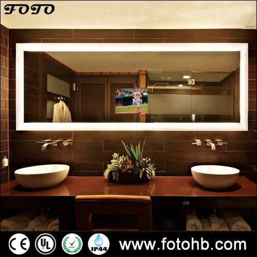 TV Mirror with LED Lighting