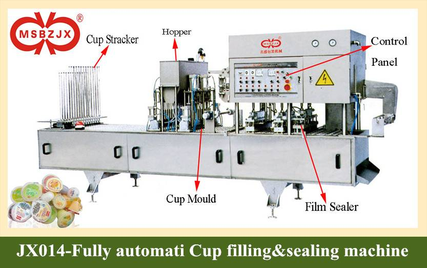 JX014-Full Automatic plastic/paper cup Filling&Sealing Machine