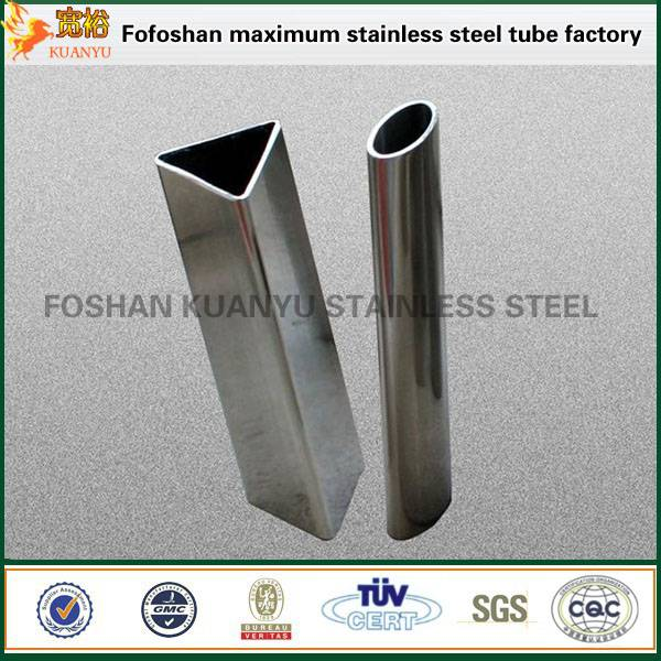 China sus316l grade stainless steel tubo triangular tube fabrication