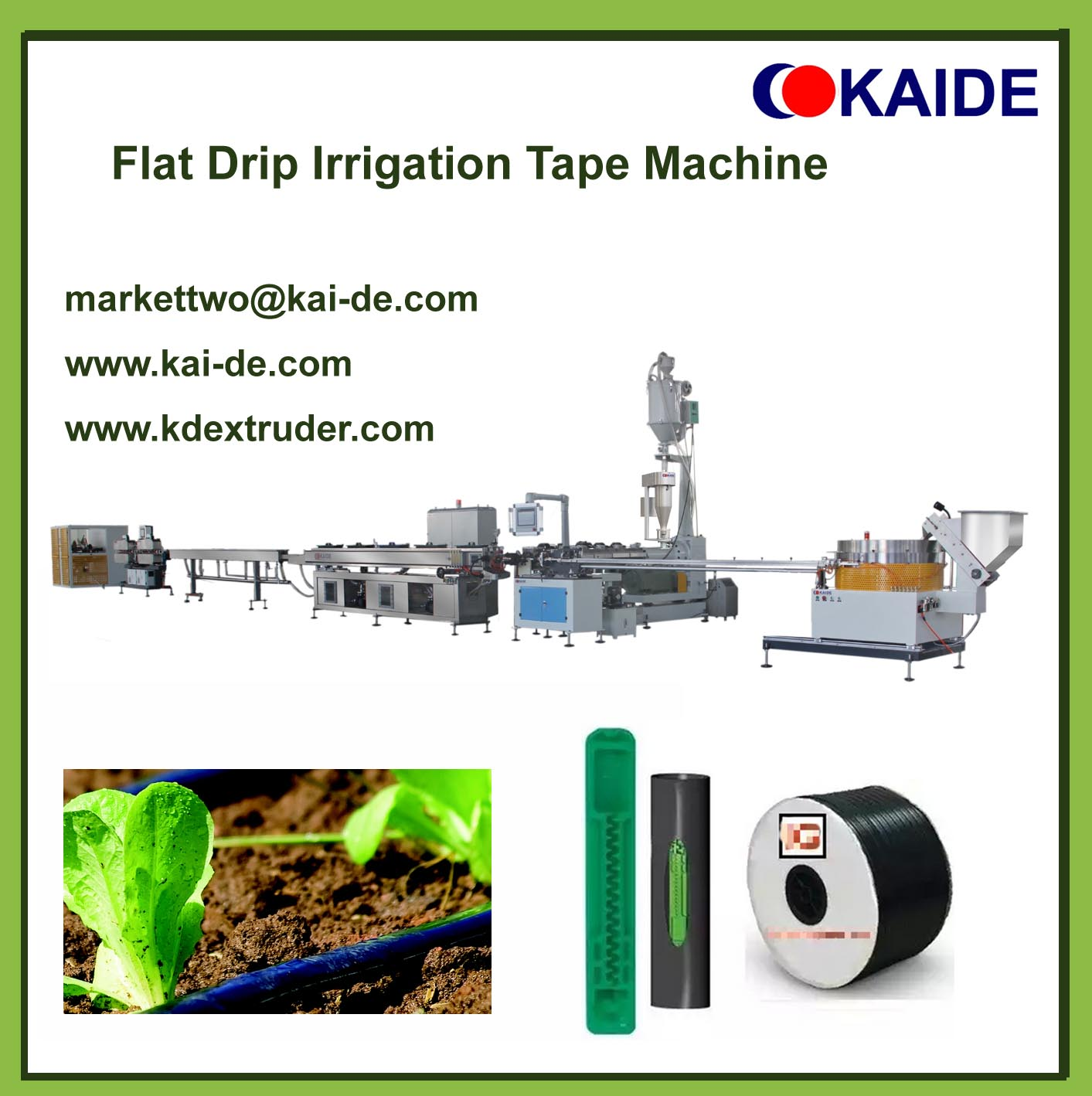 Drip irrigation tape machine with flat dripper(Whatsapp86-13705369780)