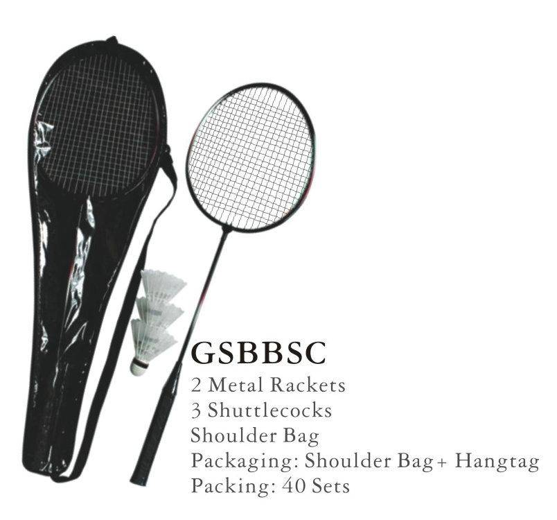 2 Player Steel Racket Badminton