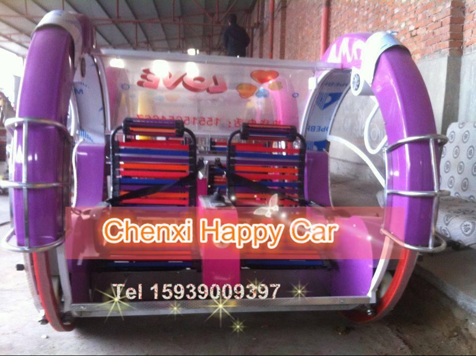 ChinaAmusement Park Battery Car Happy 360 Degree Rotating Car for sale