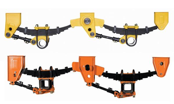 Triple axle American type suspension