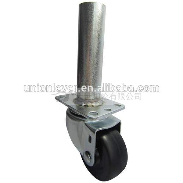 3 inch pipe caster wheel with rubber