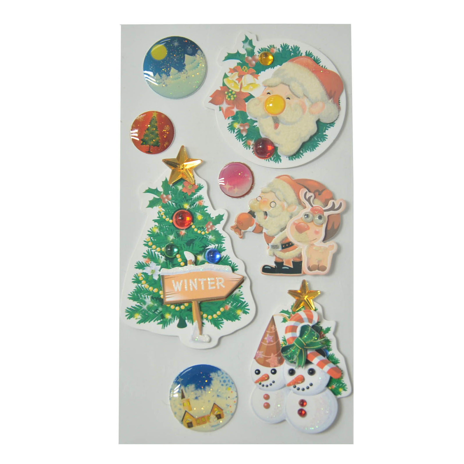 Christmas 3D Handmade Epoxy Holiday Promotional Stickers