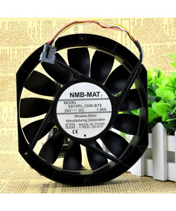 Original NMB 5910PL-05W-B76 24V 1.95A 17025 server fan