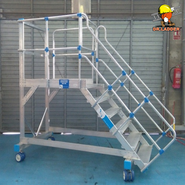 Super Quality Customized Steel Warehouse Rolling Ladder