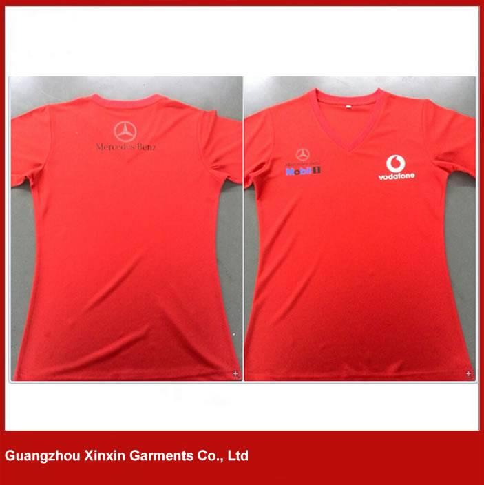 Custom design wicking v neck t shirts for sport