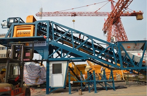 High Efficiency Mobile Concrete Batching Plant