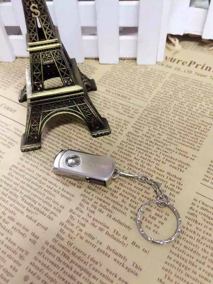 Mobile phone computer dual usb flash drive flat twin plug pen drive metal USB flash drive USB Disk