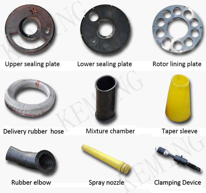 Dry/Wet Concrete Shotcrete Machine Spare Parts