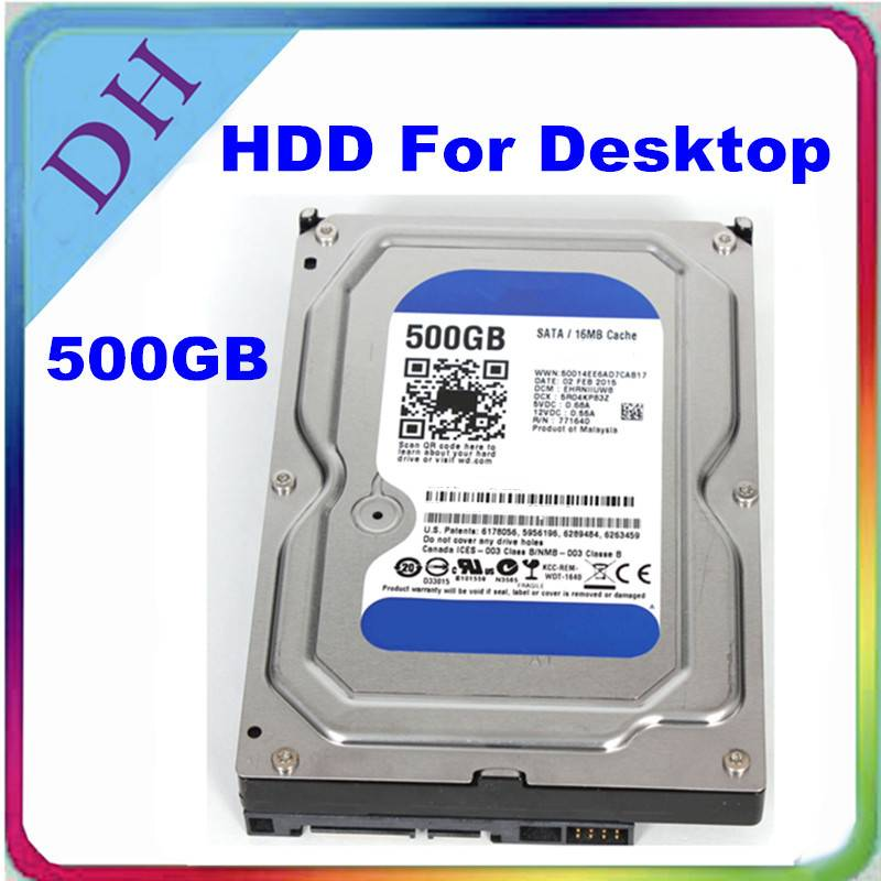 WD 500GB HDD 3.5'' SATA Desktop Internal Hard Drive  WD5000AAKX