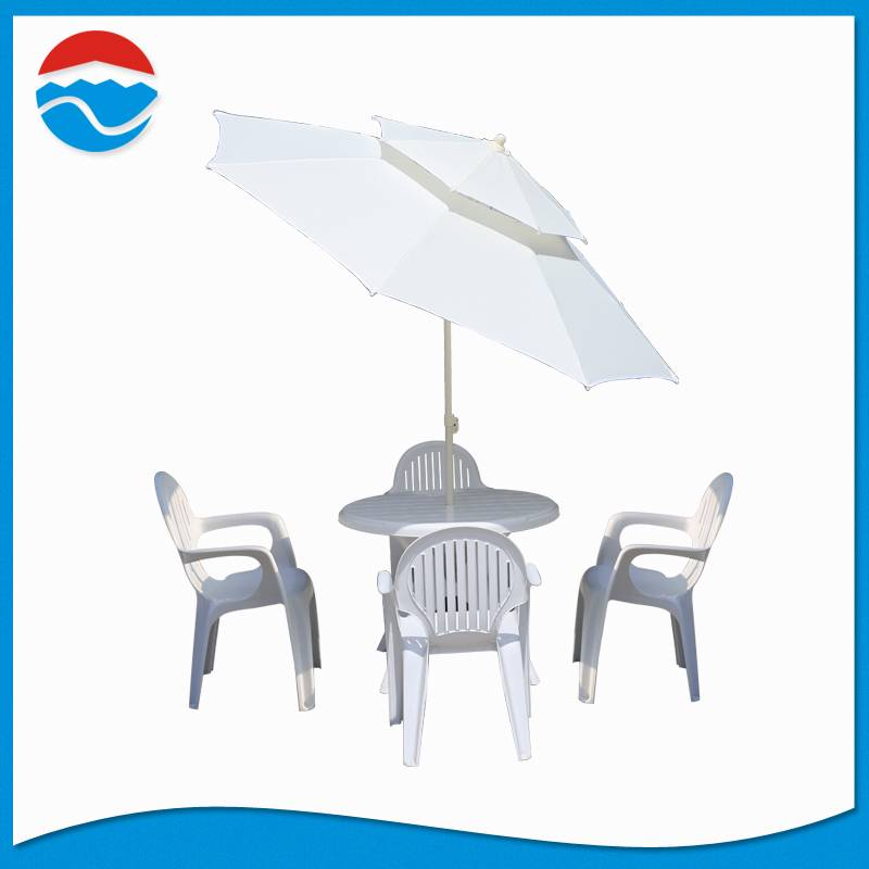 240CM*8K double lay umbrella with tilt