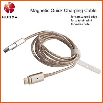 Powerful Anti-dust Metal Magnetic Micro USB Cable for Samsung Galaxi s6
