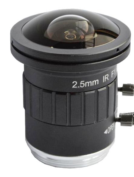 """8.0 Megapixel fisheye lens 2.5mm 2/3"""" F2.5 cctv lens M12 lens"""