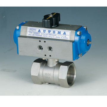 1PIECE SCREWED BALL VALVE - DOUBLE AUCTING