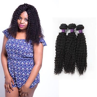 [9A]3 Bundles Kinky Curly Brazilian Hair Weave