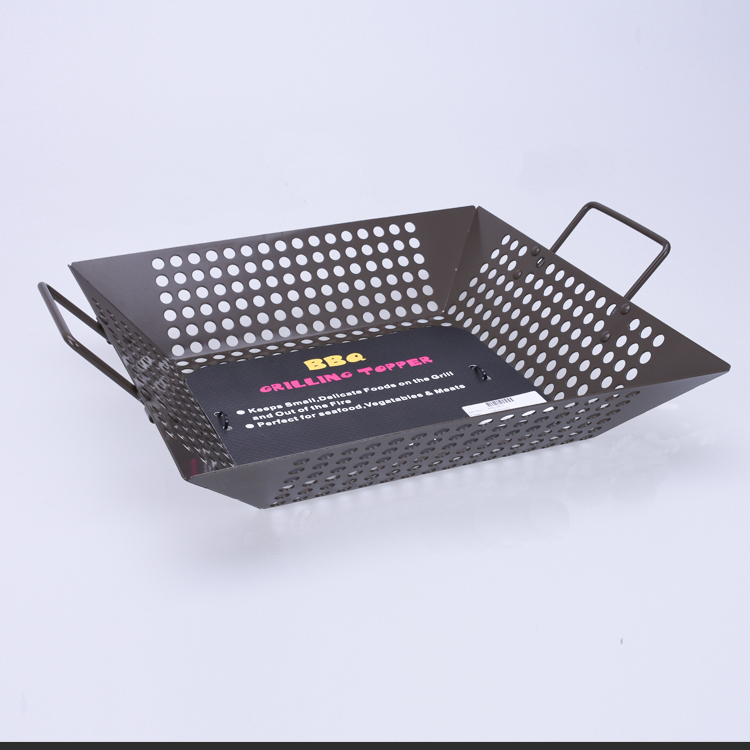 BXL0800 Charcoal Companion Wok Grill Topper Vegetable Basket 12""