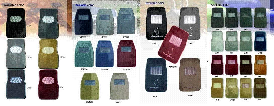 USA Fashion/ Licenced Tufted Car Carpet floor mat (530g/700g/930g/m2+Anti-skid nib backing)