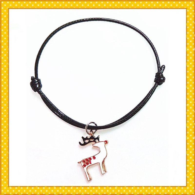 colorful deer metal alloy charm bracelet