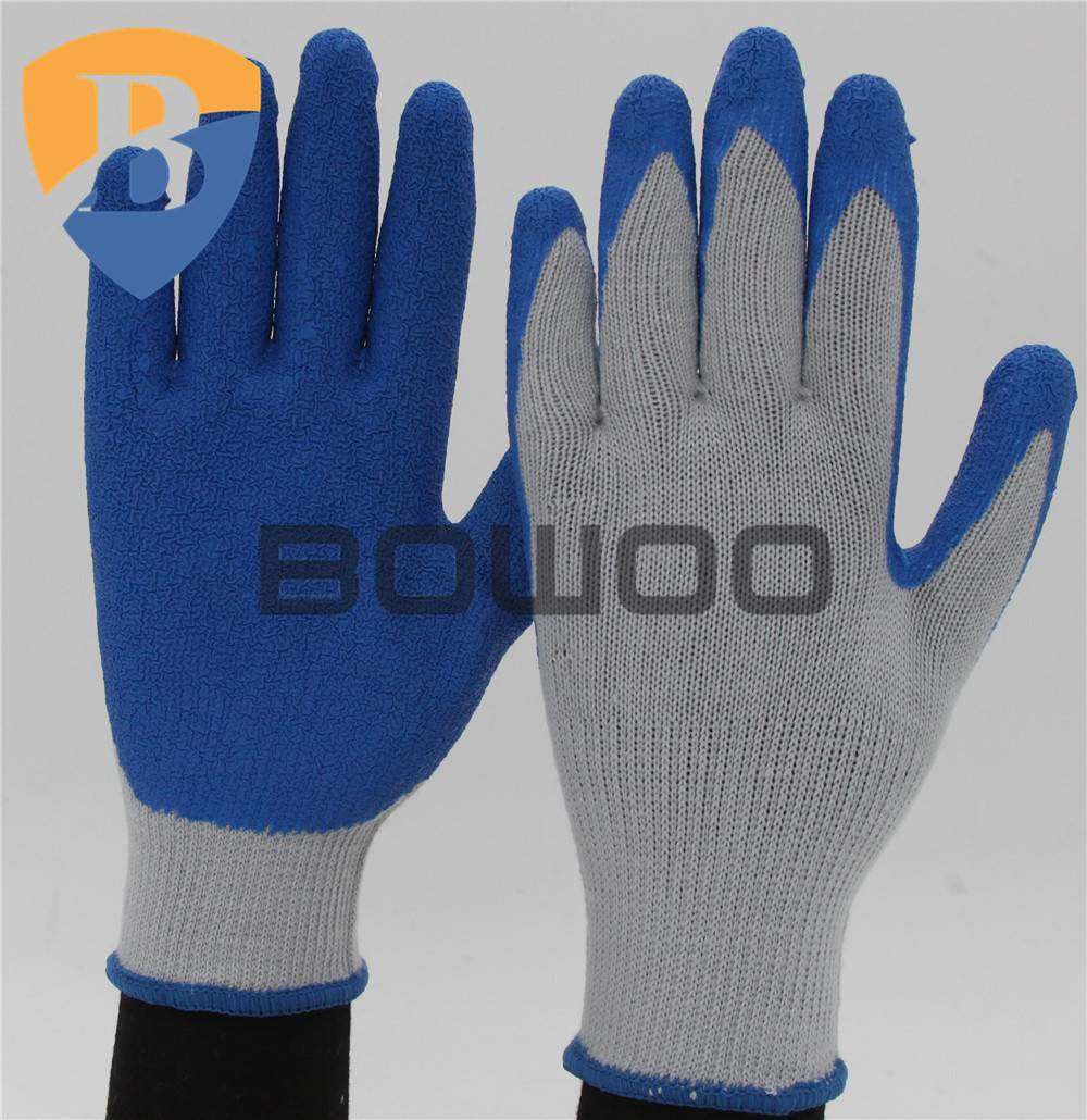 Cotton liner latex glove working safety glove
