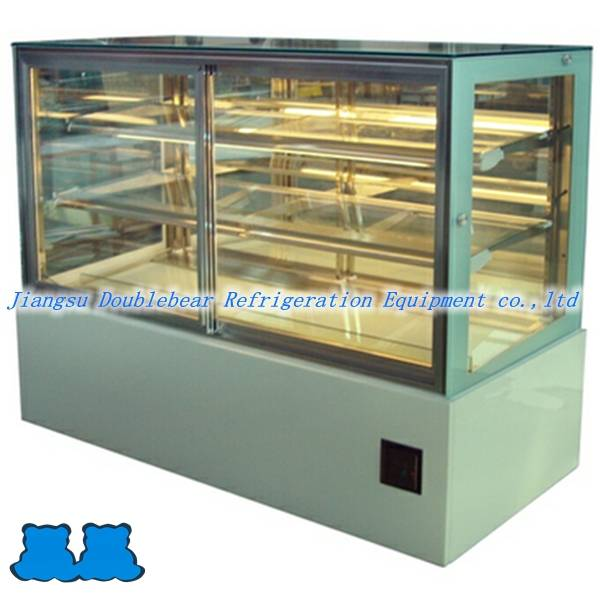 Japanese three layers cake showcase D with front sliding door
