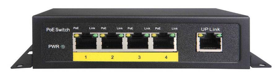 GXCOM TS6204P 10/100Mbps 5-Port PoE Switch with 4 POE Desktop