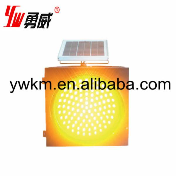 diameter 200mm 300mm 400mm solar traffic warning light yellow
