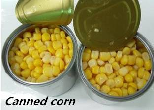 Fresh Canned Sweet Corn Sio Approved