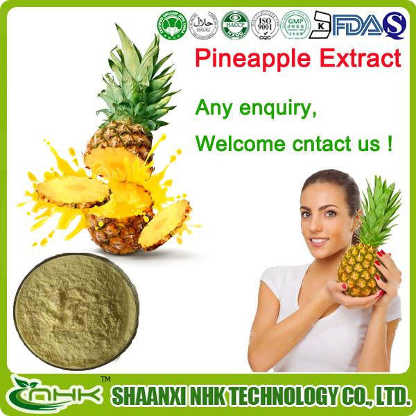GMP supplier supply factory price high quality natural fresh pineapple, pineapple extract