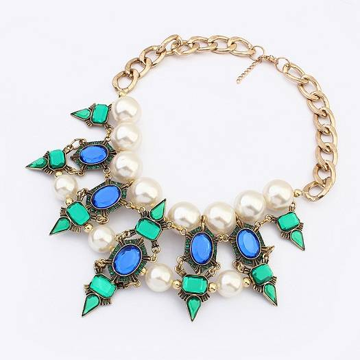 Wholesale Hot Sale Fashion Jewelry Pearl Necklace, Latest Design Pearl Necklace
