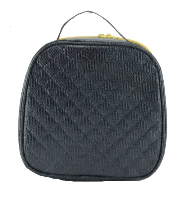 Modern Ultrasonic Nonwoven new style black cosmetic bag for ladies