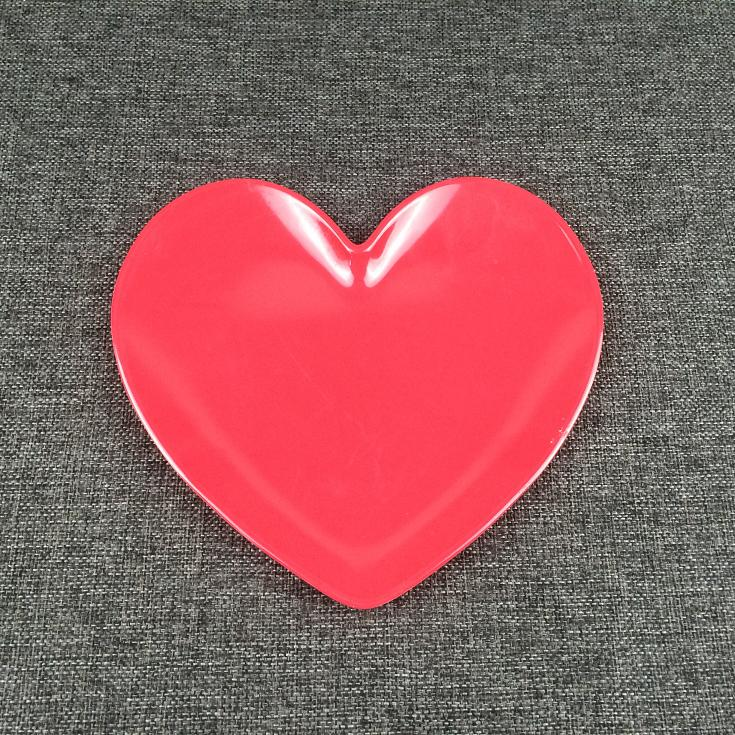 heart shape mealmine plate